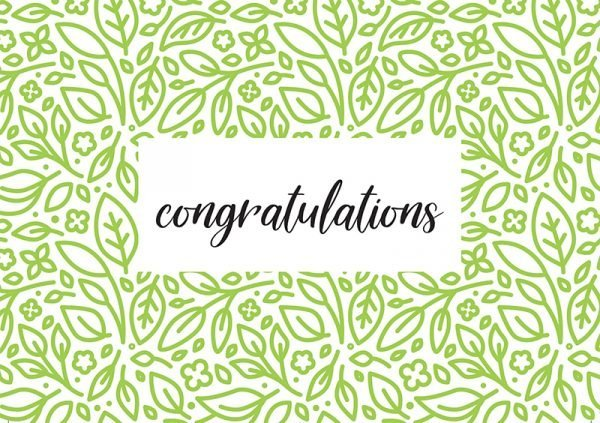 Tree Gifts  -  Congratulations Card
