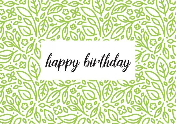 Tree Gifts  -  Happy Birthday Card