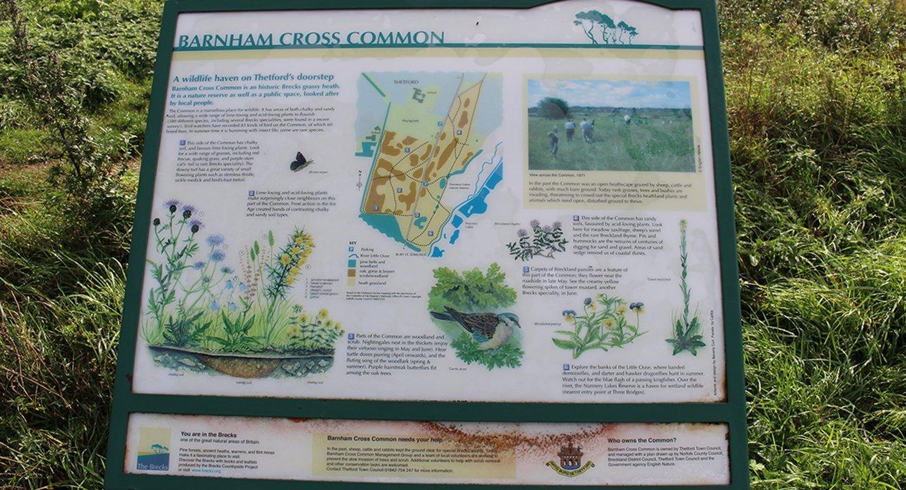 Barnham Cross Common Info Sign