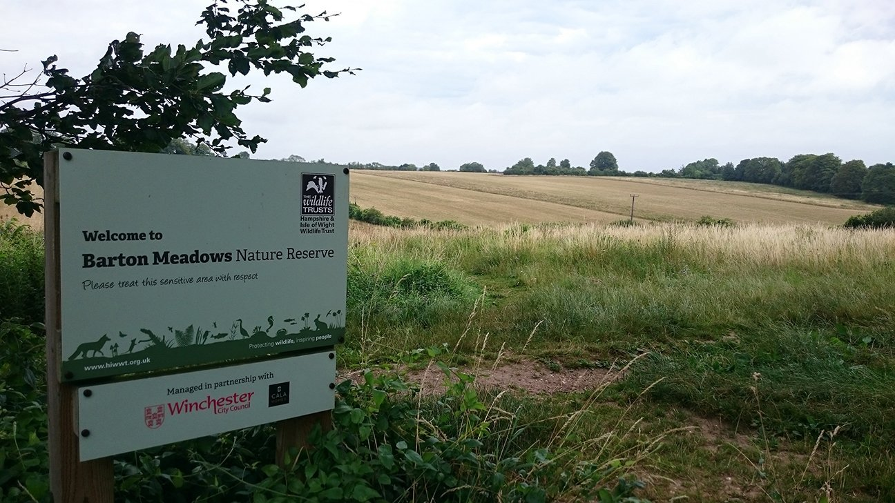 Barton Meadows Nature Reserve  -  Hampshire  -  Entrance