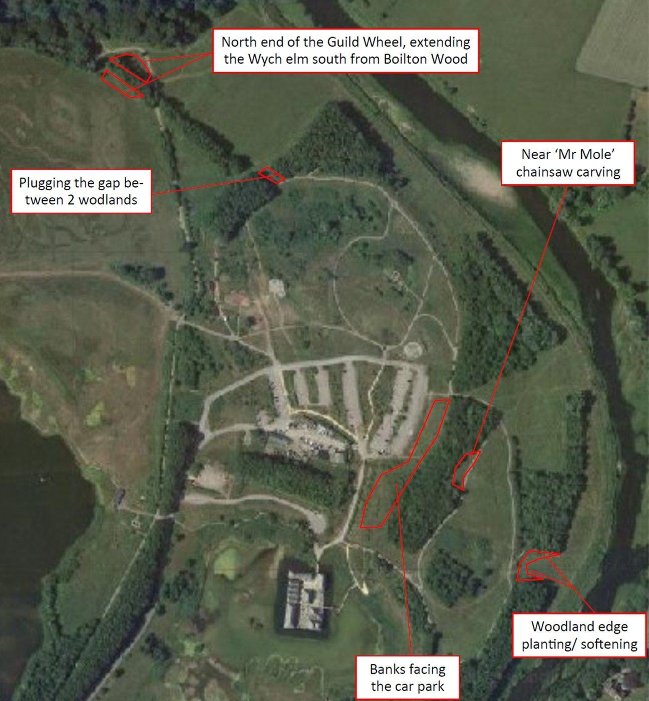 Brockholes Nature Reserve  -  Lancashire  -  Planting Zones