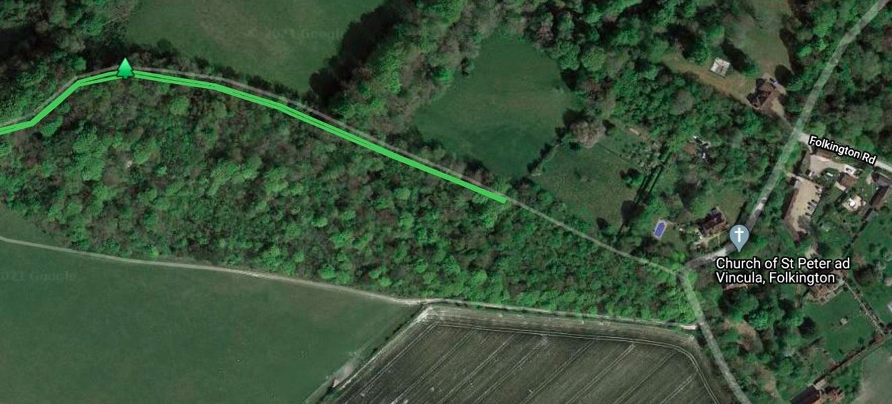 Church Wood  -  East Sussex  -  Tree Planting Area Map