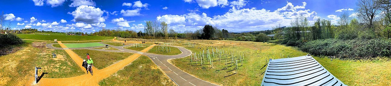 Faringdon Cycle Park  -  Oxfordshire  -  After Planting 2020
