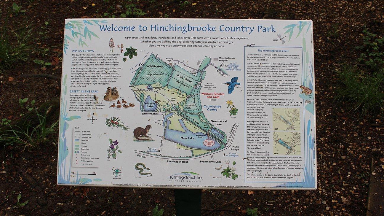 Hinchingbrooke Country Park  -  Cambridgeshire  -  Information Board