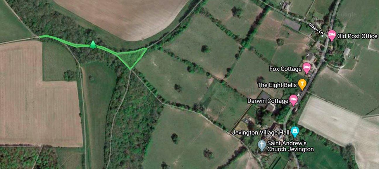 Jevington Holt  -  East Sussex  -  Tree Planting Area Map