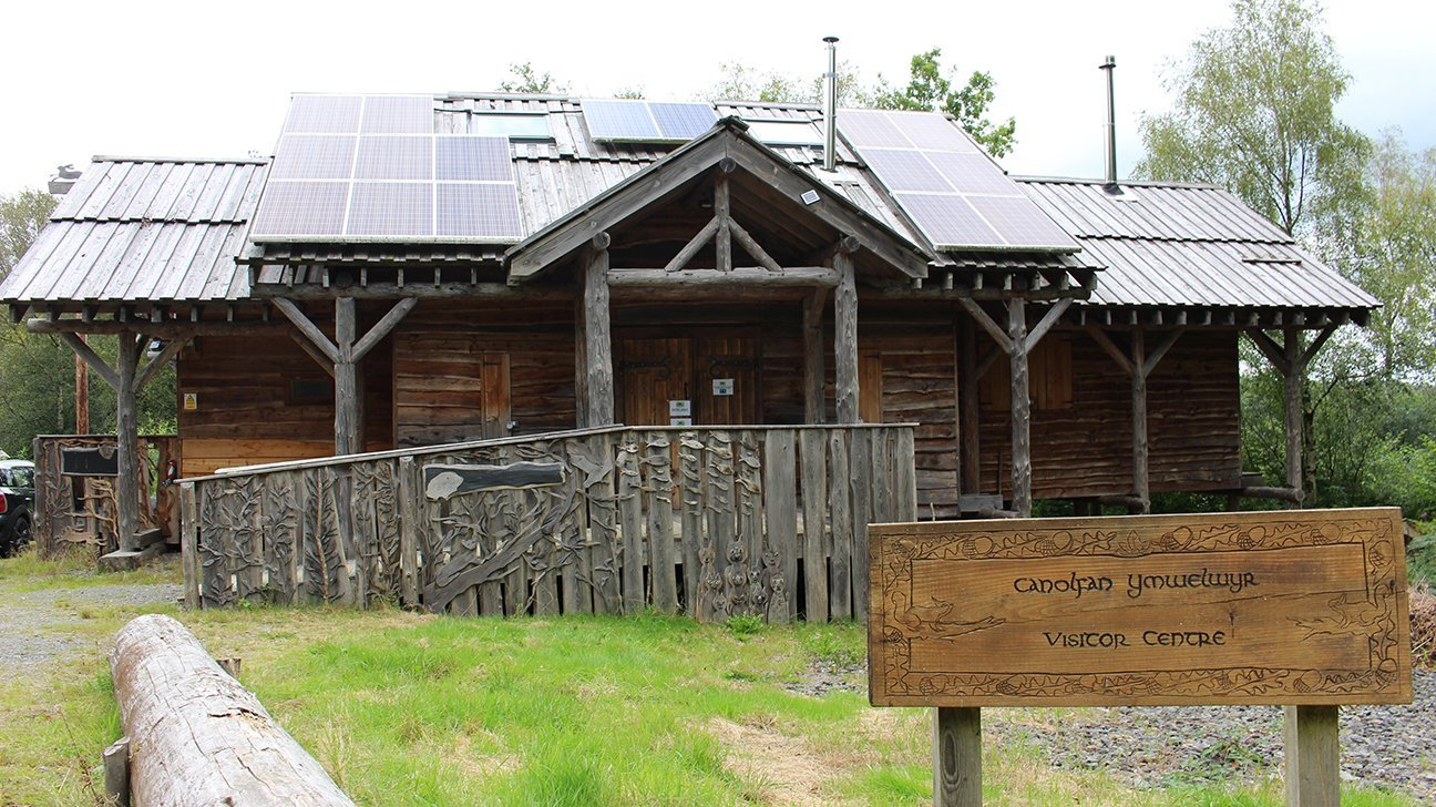 Long Wood Community Woodland  -  Wales  -  Visitor Centre