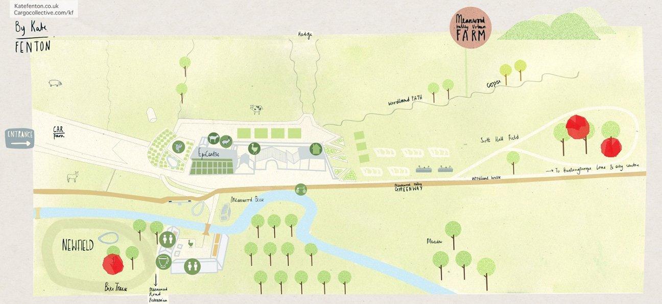 Meanwood Valley Urban Farm  -  Yorkshire  -  Tree Planting Map