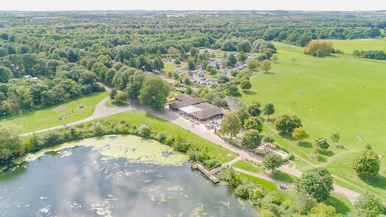 Nene Valley Park  -  Lincolnshire  -  Ferry Meadows Aerial Photo
