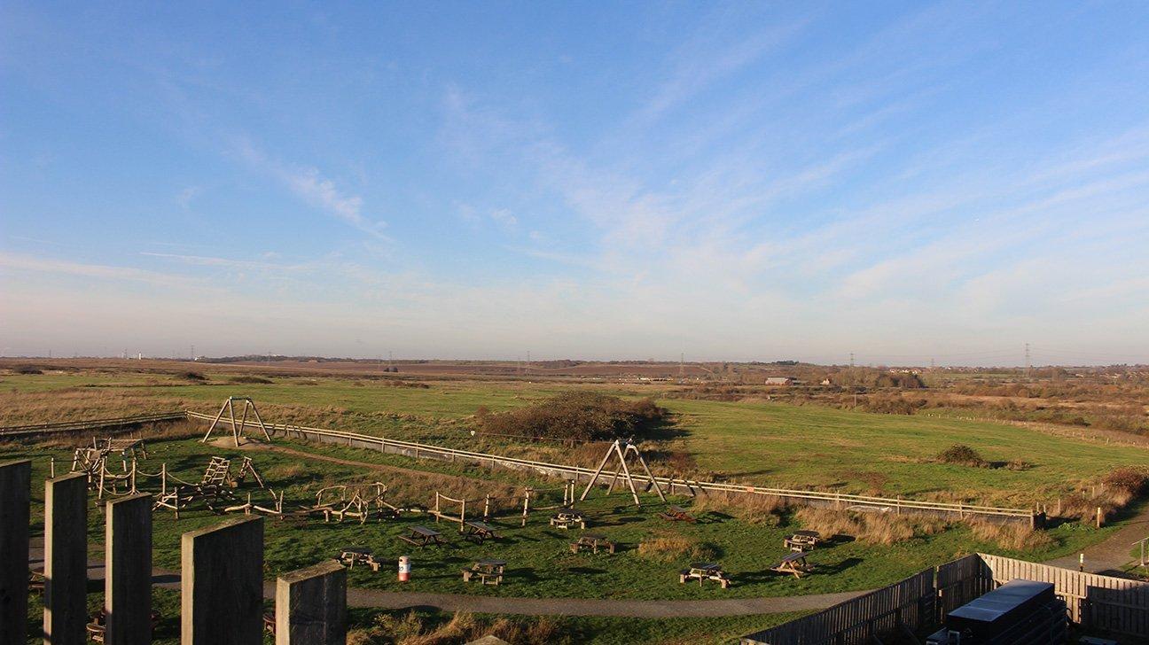 Thameside Nature Park  -  Essex  -  View Across Nature Reserve