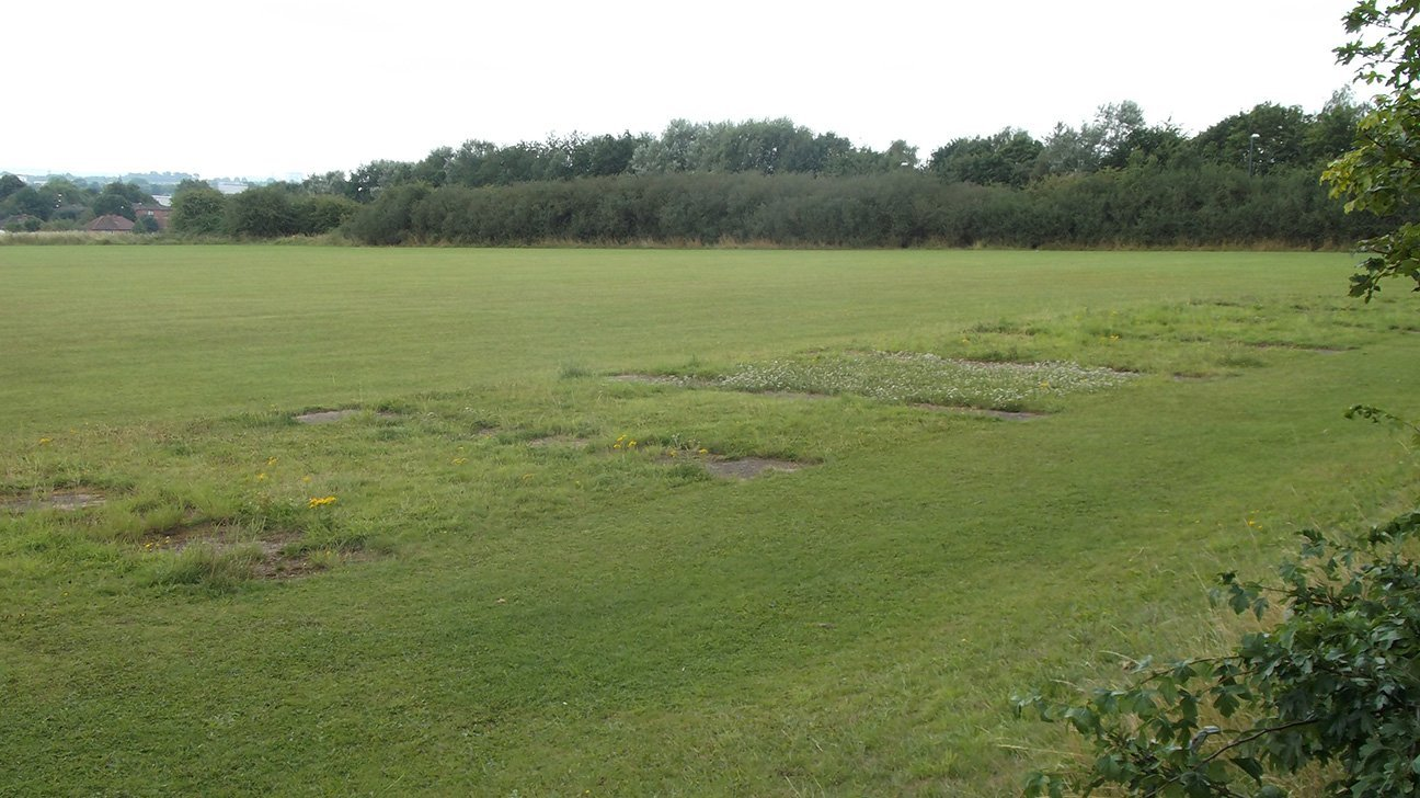 West Park Linear Woodland  -  Derbyshire  -  Before Tree Planting 2021
